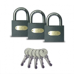 Навесной замок Apecs PD-01-63 (3Locks+5Keys)