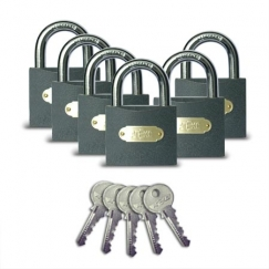 Навесной замок Apecs PD-01-63 (6Locks+5Keys)